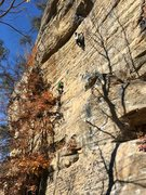 Rock Climbing Photo: Sacriledge on the left, Bathtub Mary on the right.