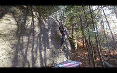 Rock Climbing Photo: Holding the swing after stickng the dyno on 'M...