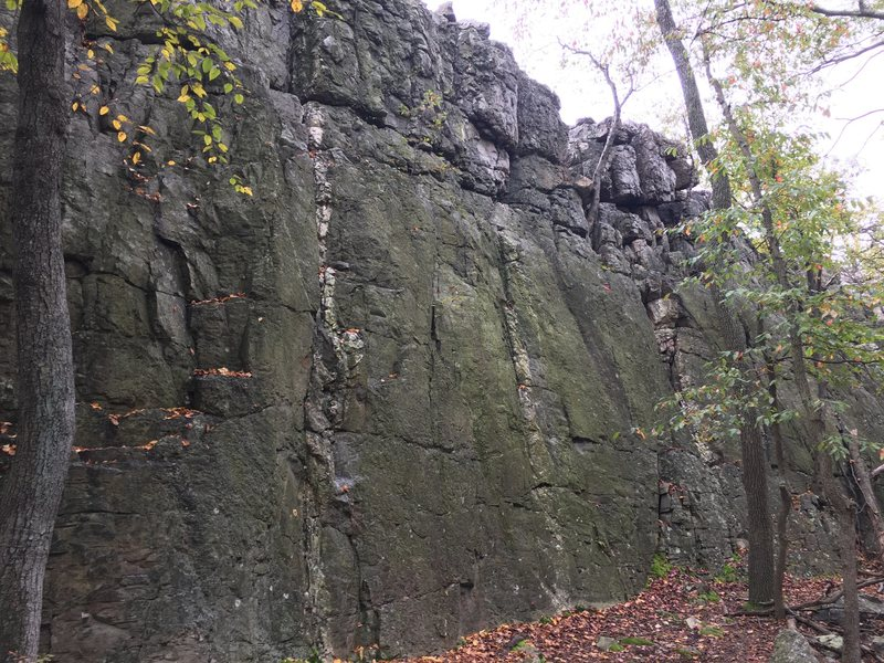 The Main Wall left side at Wolf Rock<br> Catoctin Mountain Park, Maryland