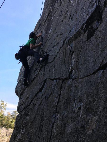 Rock Climbing Photo: Chris at Great Falls