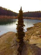 Rock Climbing Photo: An awesome cairn that some people have made this y...