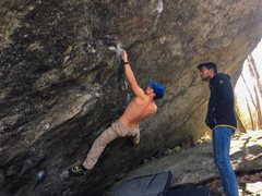Rock Climbing Photo: Gavin Bailey on True Grit. Spotted by the one and ...