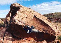 Rock Climbing Photo: Heel hook for the send.