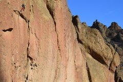 Rock Climbing Photo: Quentin on sighting Return of the Redeye linking i...