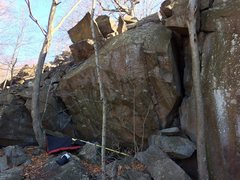 Rock Climbing Photo: Amazing boulder at the top of the white trail