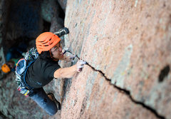 Rock Climbing Photo: Leaving some DNA behind...