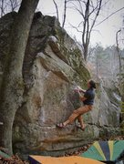 "Rock Climbing Photo: Brad on ""Watch Tower"" about to break to ..."