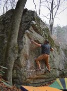 "Rock Climbing Photo: Brad moving to the arete on ""Watch Tower&quot..."