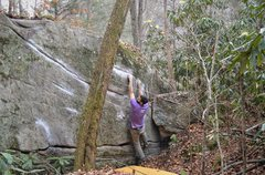 "Rock Climbing Photo: Parlier moving through the perfect seams of ""..."