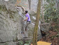 """Rock Climbing Photo: Parlier hitting the lip to top out """"Line of S..."""