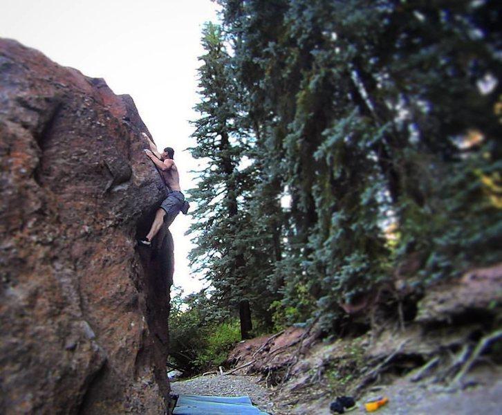 Redstone riverside boulders