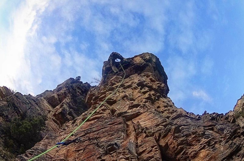 Rock Climbing Photo: Beer, Bolts, & Trundeled Boulders, Pup Tent
