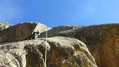 Rock Climbing Photo: Fun, steep, and exposed 5.9. The crack seemed hung...