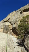 Rock Climbing Photo: Follow the bolts. I placed a few pieces between th...