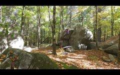 Rock Climbing Photo: 'Lunge Or Plunge' (v4)