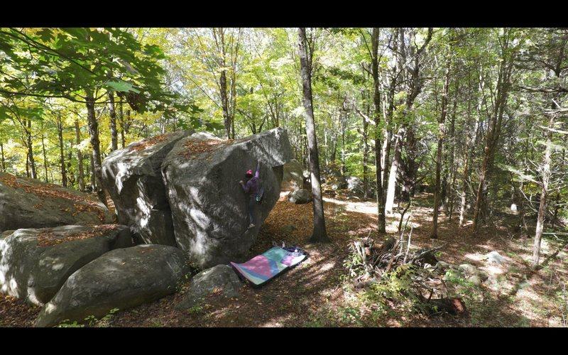 Rock Climbing Photo: 'White Magic' (v4/5)
