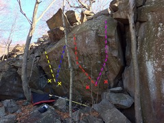 Rock Climbing Photo: This is THE boulder of the area. It's 10-17 fe...