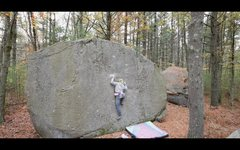 Rock Climbing Photo: The starting moves of 'Gritish Invasion' (...