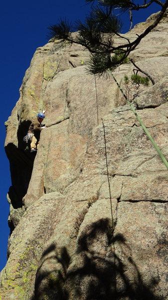 Rock Climbing Photo: Pulling the corner.