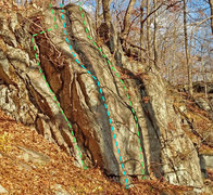 Rock Climbing Photo: Tulpehocken sector left side from SouthWest: B. St...