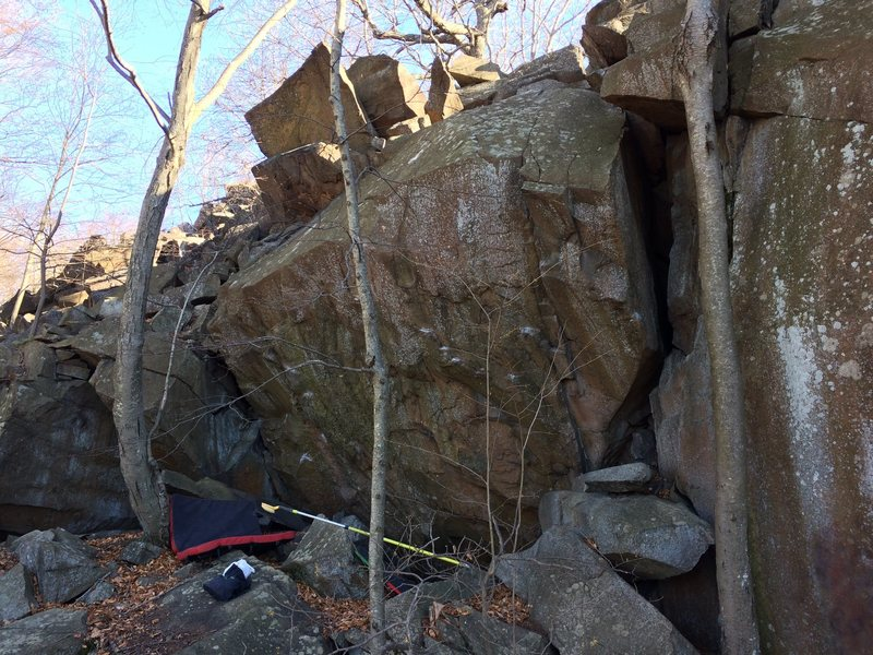 One of the best traprock boulders I've seen in CT.