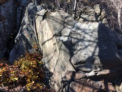 Rock Climbing Photo: Very nice boulder at the base of Wiessner's Ri...