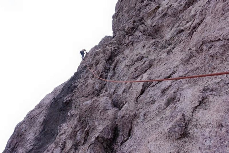 Rock Climbing Photo: Climbing Zero Gravity from the Solar Wind anchors....