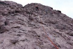 Rock Climbing Photo: Leading Solar Wind.