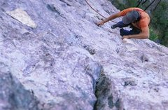 Rock Climbing Photo: TR soloing Solar Wind.