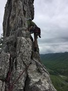 Rock Climbing Photo: Really exposed!