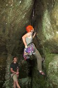 Rock Climbing Photo: Why wouldn't you climb the wet dark crack inst...