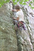 Rock Climbing Photo: Lay backing is easier but then you don't get t...