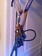 YGD - Climber strand just runs freely through - don't clip brake biner to hanging biner...