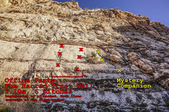 Rock Climbing Photo: Office Party, 5.10a. Both variant starts are marke...