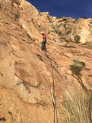 Rock Climbing Photo: Last belay station of the ramp (as far as I can te...