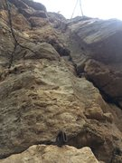 Rock Climbing Photo: Someone's been here before. Further right than...