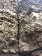 Rock Climbing Photo: Several of these old drill scars look like they ha...