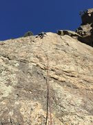 Patrick Morrow making the crux look easy.