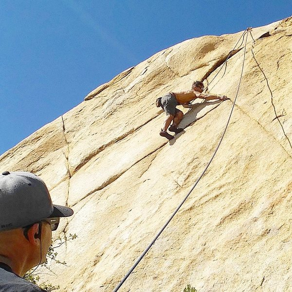 Top Rope on Dos Xs Rock - Jed Andersen