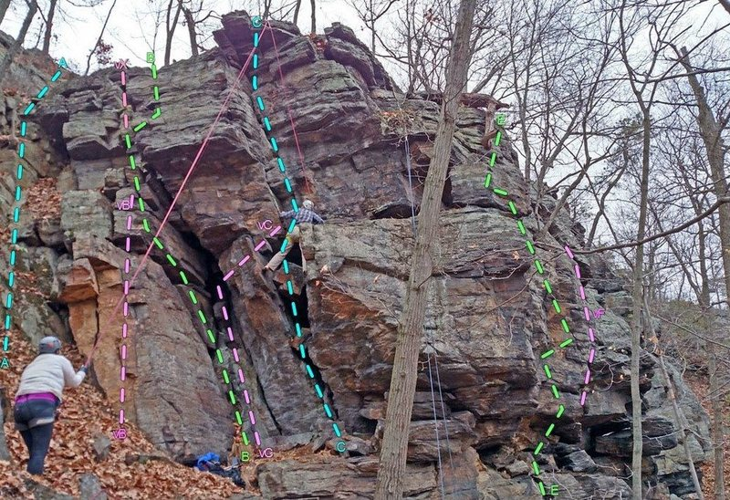 Rock Climbing Photo: Adventure Stories - SW side: A. Where the Wild Thi...