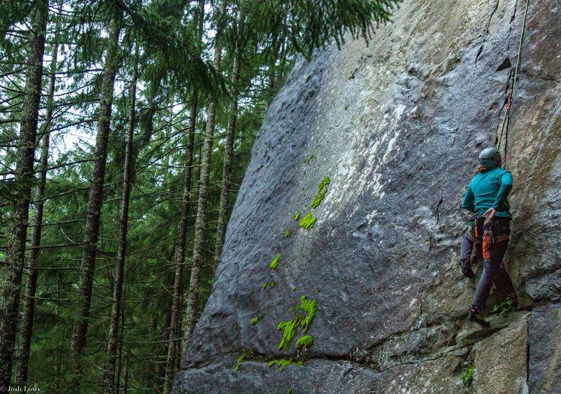 Rock Climbing Photo: Julia on The Zipper