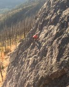 Rock Climbing Photo: An early morning solo on this fun slab!