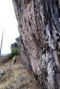 Rock Climbing Photo: Lots of interesting rock around, some of it's ...