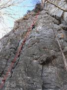 Rock Climbing Photo: Chandler Borrosh making her way up Easy Hard.
