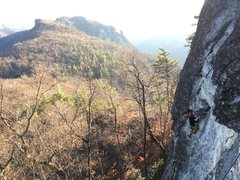 Rock Climbing Photo: Nate crushing the arch. Definately a lot of proble...
