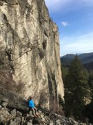 Rock Climbing Photo: Kara looks over the Kettle River from the west fac...