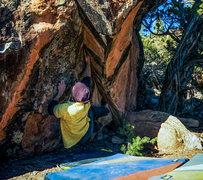 Rock Climbing Photo: Start beta to Tall Drink of Water.