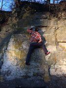 Rock Climbing Photo: Right foot to slab