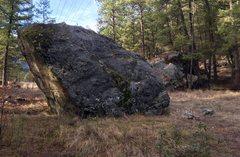 Rock Climbing Photo: Overhang on Boulder A