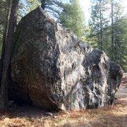 Rock Climbing Photo: West side of Boulder B